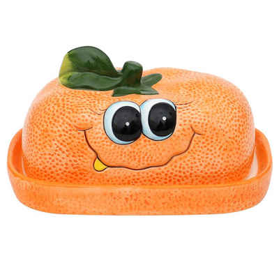 Dekohelden24 Butterglocke »Butterdose als Orange / Mandarine in orange«,(1-tlg)