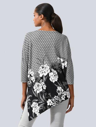 Alba Moda Pullover in asymmetrisher Form