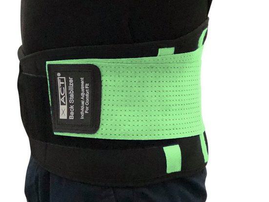 scarlet products Stützbandage, Rückengurt »XACT« zur Stabilisierung & Haltungskorrektur; lindert Schmerzen; für Damen und Herren; Größen S - XXL von scarlet health