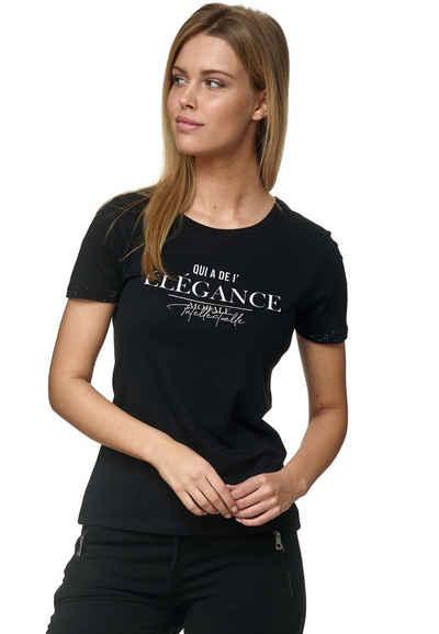 Decay T-Shirt mit lässigem Frontdruck