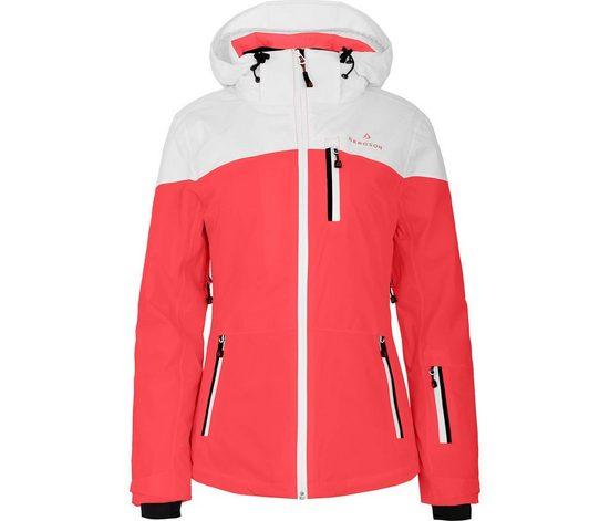 Bergson Skijacke »NUOLJA« Damen Skijacke, wattiert, 20000mm Wassersäule, Kurzgrößen, coral rot
