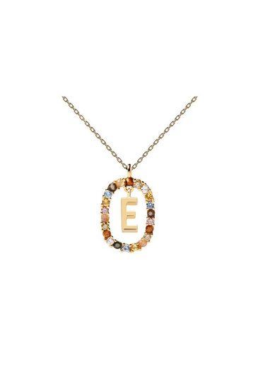 PDPAOLA Halsband »Buchstabenkette E«