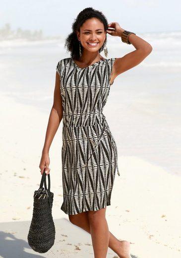 LASCANA Jerseykleid mit Alloverdruck