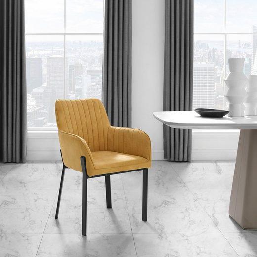 Places of Style Esszimmerstuhl »Maryland« (Set), 2er-Set, Sitz und Rücken gepolstert, modernes Design
