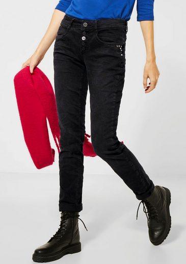 STREET ONE Skinny-fit-Jeans »Jane« mit coolen Nietendetails vorn