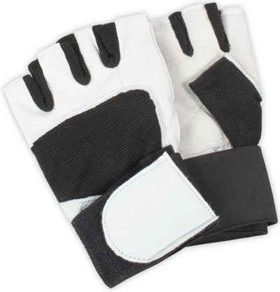 normani Trainingshandschuhe »Fitness-Handschuhe« fingerlose Handschuhe Schwarz-Weiß