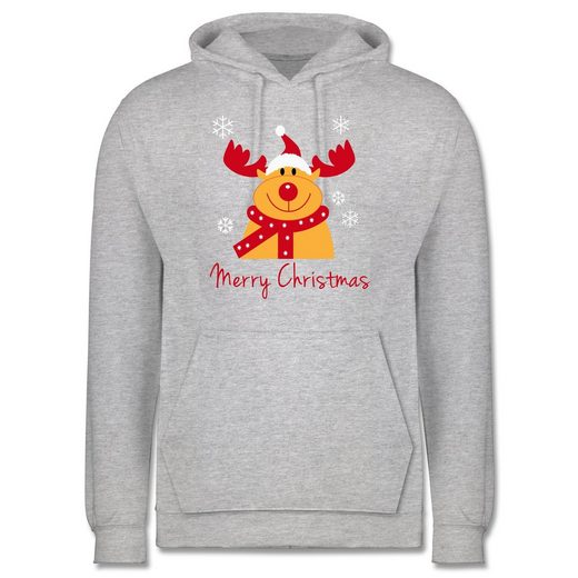 Shirtracer Hoodie »Merry Christmas Rentier - Männer Premium Kapuzenpullover«