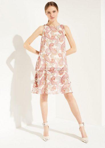 Comma Minikleid »Chiffon-Kleid mit Paisley-Muster« Layering