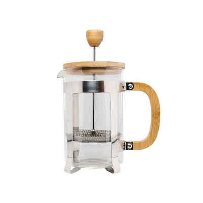 Neuetischkultur Teebereiter Kaffeebereiter aus Glas mit Bambusdeckel und Griff