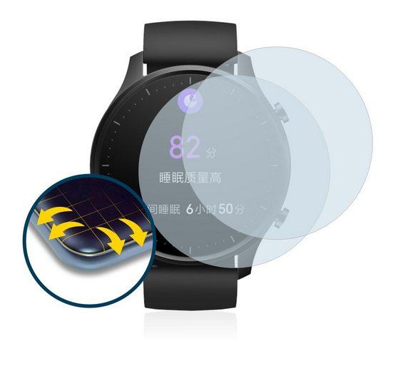 BROTECT Schutzfolie »für Xiaomi Mi Watch Revolve«, (2 Stück), Full-Cover 3D Curved matt entspiegelt