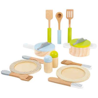 Small Foot Kinder-Küchenset »Geschirr- und Topfset Kinderküche«, (12-tlg)