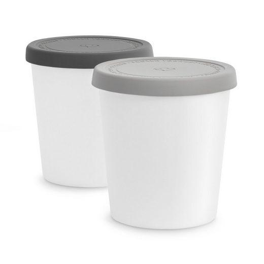 Springlane Vorratsdose »Eisbehälter für Speiseeis«, Kunststoff, (2-tlg), Grau, 1 L