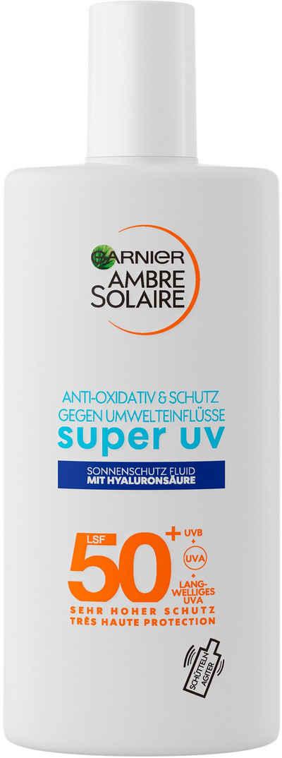 GARNIER Sonnenschutzfluid »Ambre Solaire Sensitive expert+«, mit Hyaluronsäure LSF 50