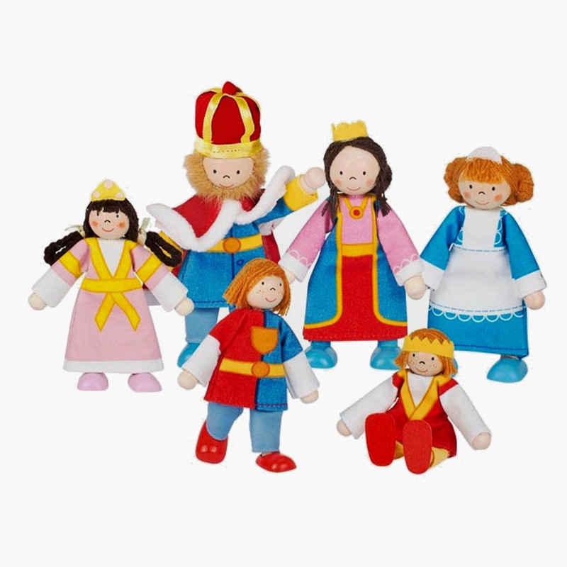 goki Biegepuppe »Königsfamilie 6-teilig« (Spar-Set, 6-tlg., Die Arme und die Beine sind beweglich)