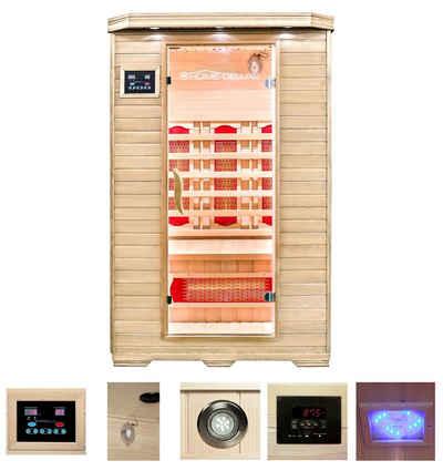 HOME DELUXE Infrarotkabine »Redsun M«, BxTxH: 120 x 105 x 190 cm, 40 mm, 40 mm, für bis zu 2 Personen