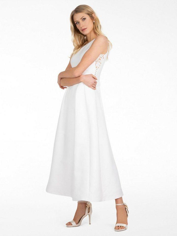 Apart Brautkleid aus Satin mit Spitzeneinsatz