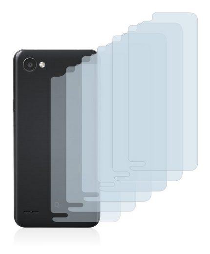 Savvies Schutzfolie »für LG Q6 (Rückseite)«, (6 Stück), Folie Schutzfolie klar