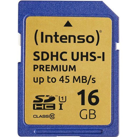 Intenso »SDHC 16 GB Class 10 UHS-I« Speicherkarte
