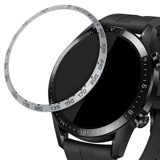 kwmobile Smartwatch-Hülle, Schutzring für Huawei Watch GT2 (46mm) - Bezel Ring Lünette mit Tachymeter Skala