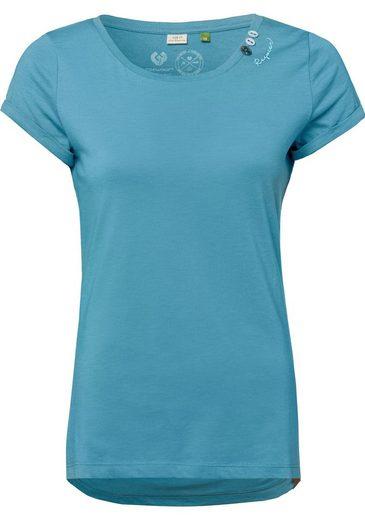 Ragwear T-Shirt »FLORAH A ORGANIC« mit Dekoknöpfen und charakteristischen Label-Applikationen