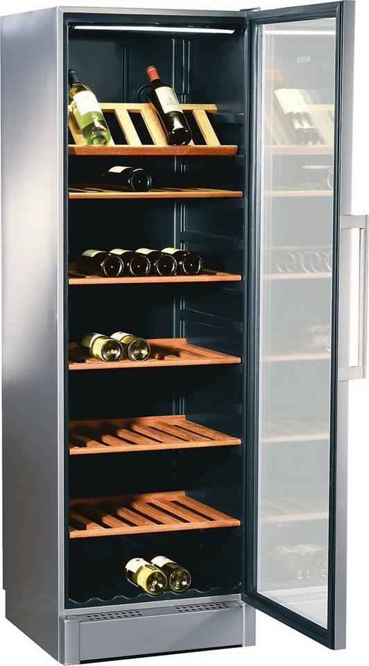 Bosch Weinkühlschrank KSW38940, für 197 Bordeauxflaschen á 0,75l in Alufarben