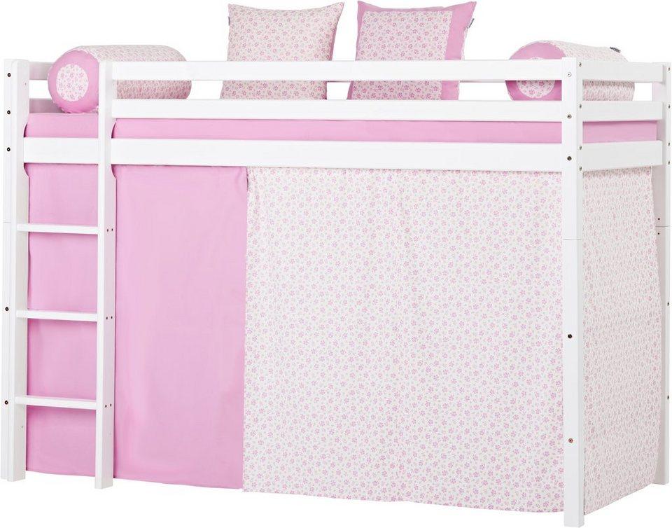mittelhohes hochbett hoppekids romantik kaufen otto. Black Bedroom Furniture Sets. Home Design Ideas