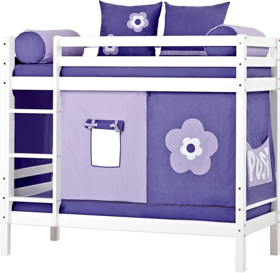 Etagenbett, Hoppekids, »Purple Flower« in weiß