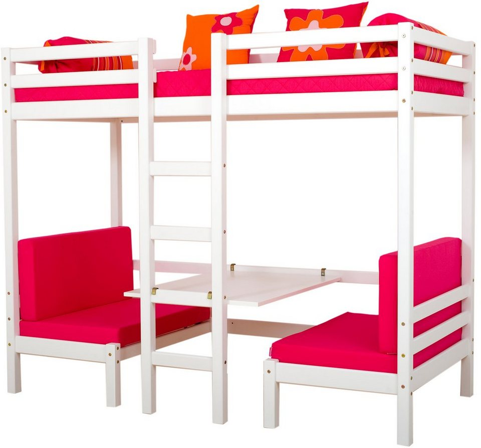 jumbo hochbett hoppekids flower power kaufen otto. Black Bedroom Furniture Sets. Home Design Ideas