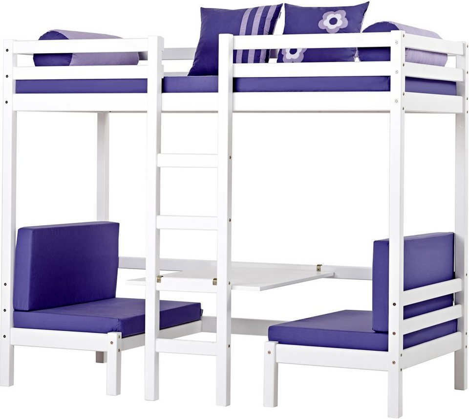 jumbo hochbett hoppekids purple flower kaufen otto. Black Bedroom Furniture Sets. Home Design Ideas