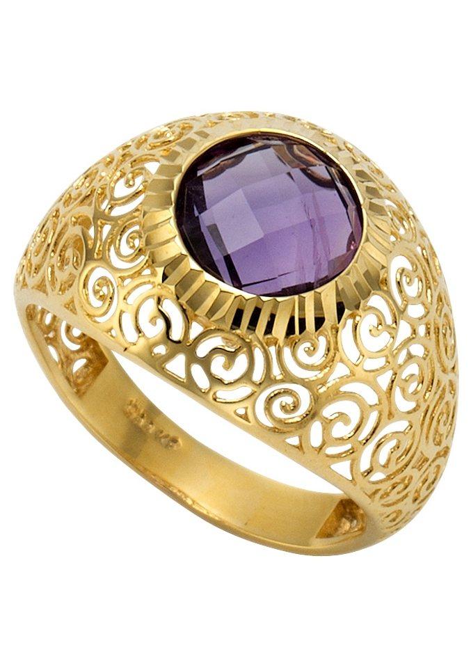 firetti Ring mit Amethyst in goldfarben