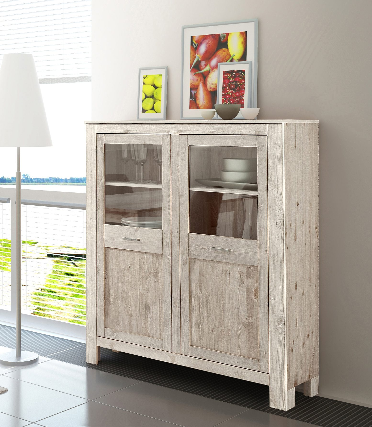 Highboard, Home affaire, Breite 125 cm, Höhe 135 cm
