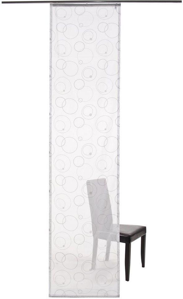 Schiebegardine, Homing, »Palio«, mit Klettband (1 Stück mit Zubehör) in weiß