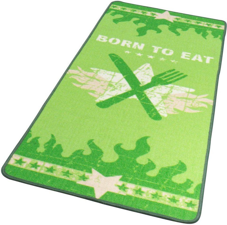 Küchenläufer, Hanse Home, »LOOP2«, getuftet, strapazierfähig, grafisch gemustert in Grün