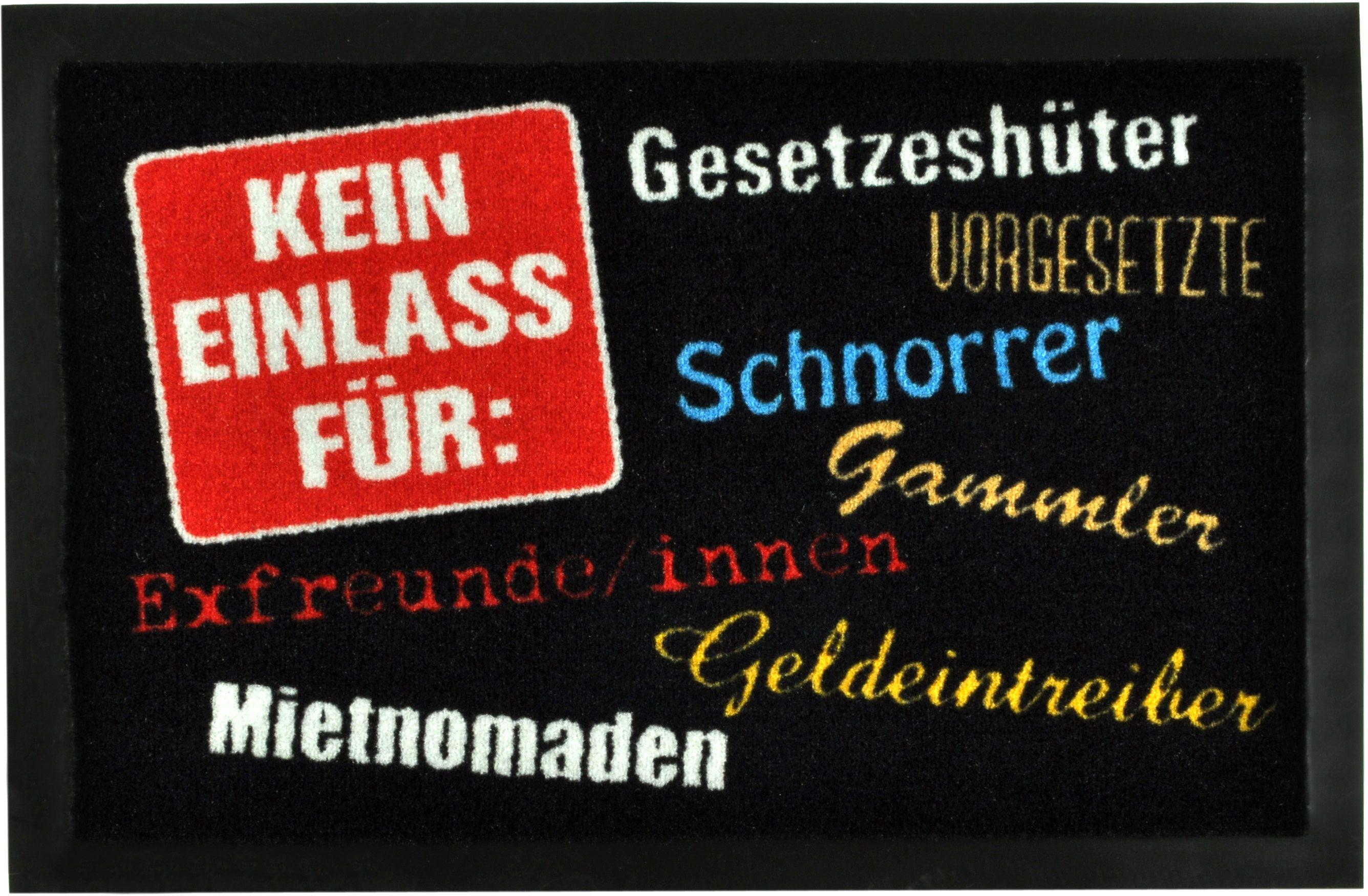 Fußmatte »Kein Einlass für«, Hanse Home, rechteckig, Höhe 7 mm, rechteckig