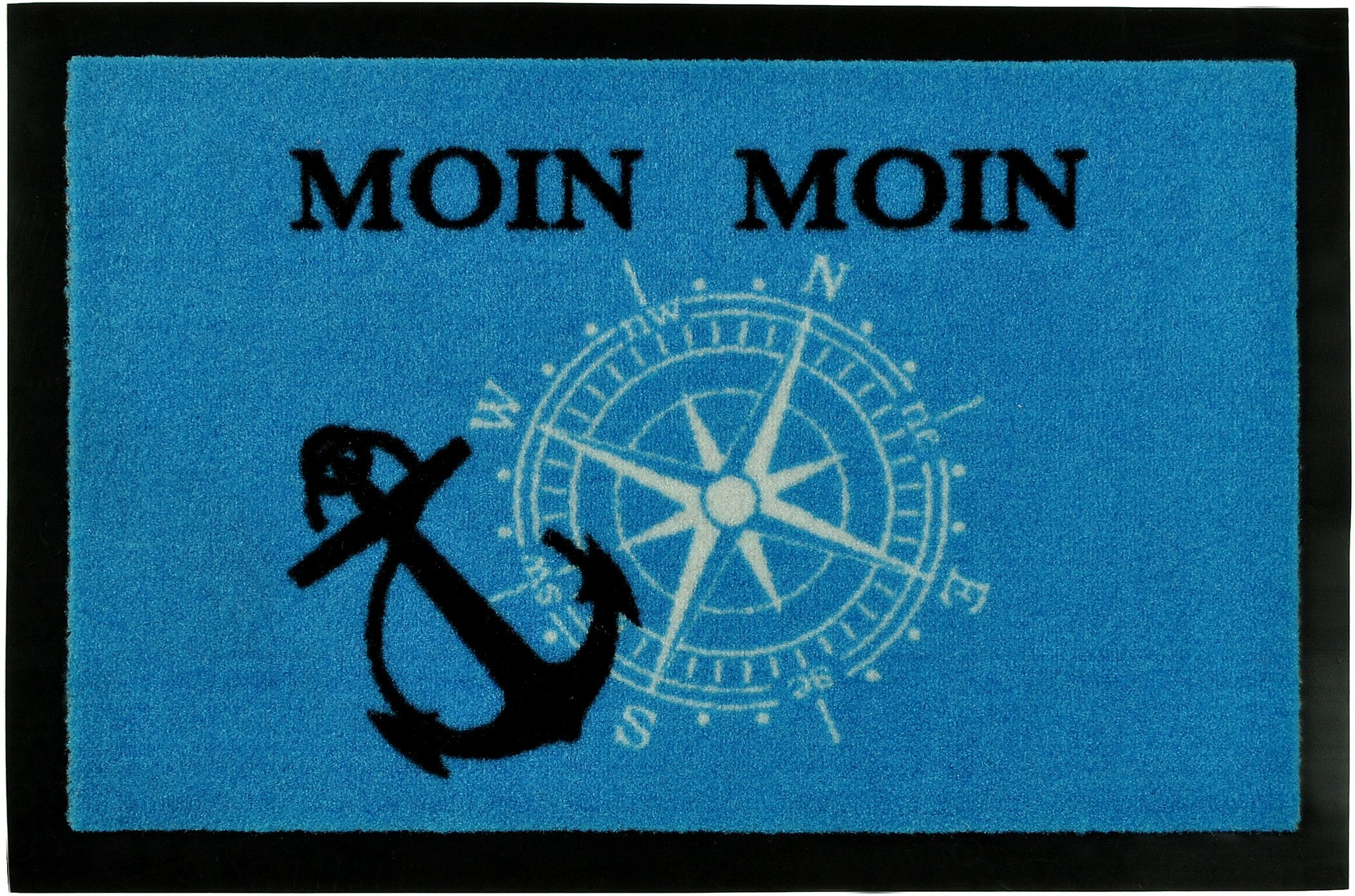 Fußmatte »Moin Moin«, HANSE Home, rechteckig, Höhe 7 mm, rechteckig