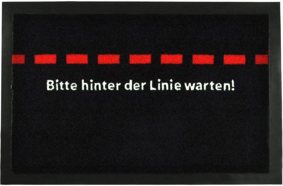 Fußmatte »Linie«, rutschhemmend beschichtet, Hanse Home, strapazierfähig, In- und Outdoor in Schwarz