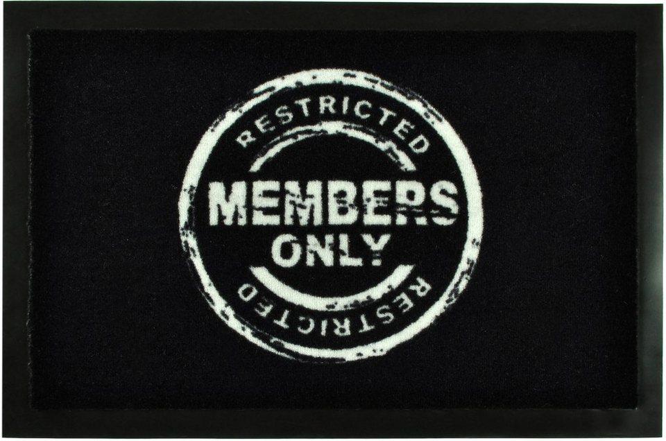 Fußmatte »Members Only«, Hanse Home, rechteckig, Höhe 7 mm in schwarz
