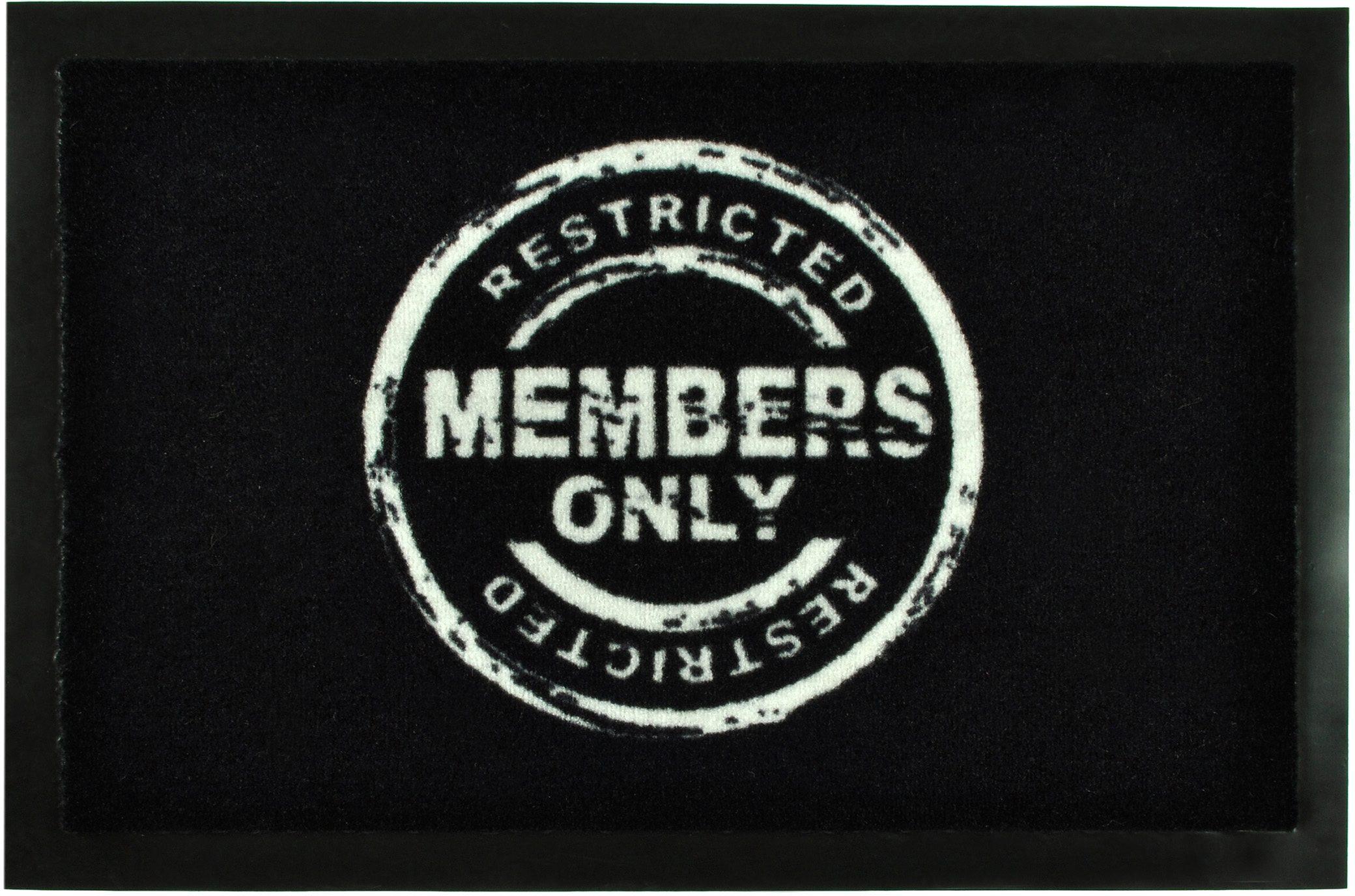 Fußmatte »Members Only«, HANSE Home, rechteckig, Höhe 7 mm, rechteckig