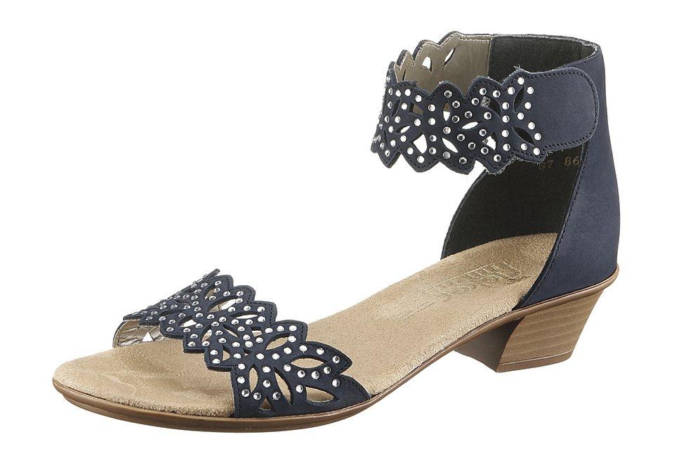 Rieker Sandalette mit Glitzersteinchen in blau