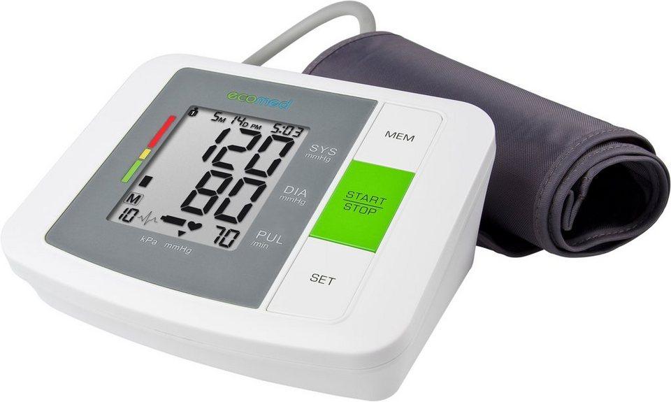 Medisana, Oberarm-Blutdruckmessergerät, ecomed BU-90E in grau