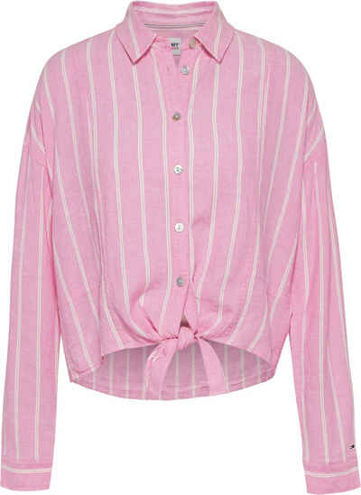 Tommy Jeans Hemdbluse »TJW RELAXED FRONT KNOT SHIRT« mit Knotendetail vorn