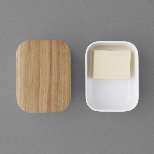 Stelton Butterdose »RIG-TIG BOX-IT Butterdose, warmgrau«, Melamin, Bambus