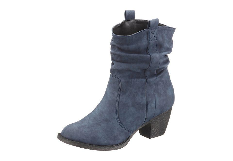 CITY WALK Cowboy Stiefelette, im Western-Look  blau-used