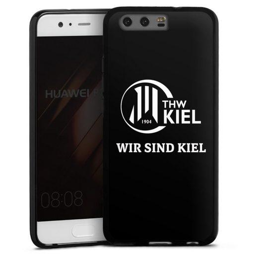 DeinDesign Handyhülle »Wir sind THW Kiel« Huawei P10, Hülle Handball THW Kiel Fanartikel