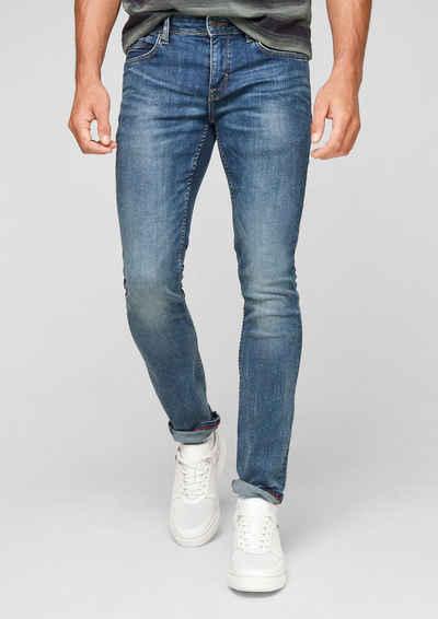 s.Oliver 5-Pocket-Jeans »Slim: Hyperstretch-Jeans« Waschung, Leder-Patch