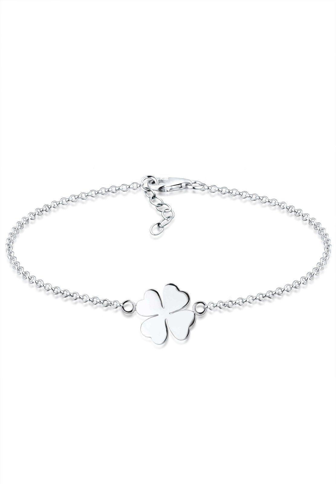 Elli Armband »Kleeblatt Silber«