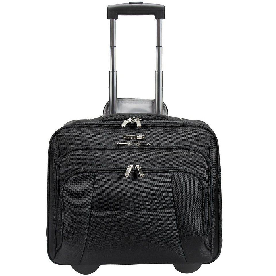 d & n Bussiness & Travel Business-Trolley 41 cm Laptopfach in schwarz