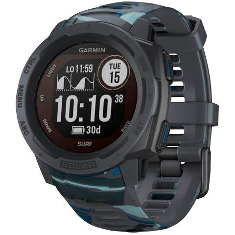 Garmin Instinct Solar – Surf Edition Smartwatch (2,3 cm/0,9 Zoll)