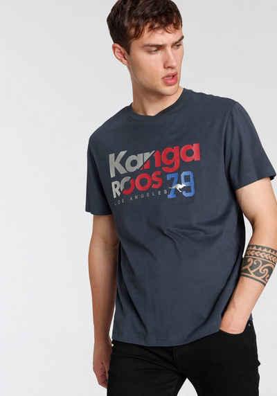 KangaROOS T-Shirt mit großem Logofrontprint