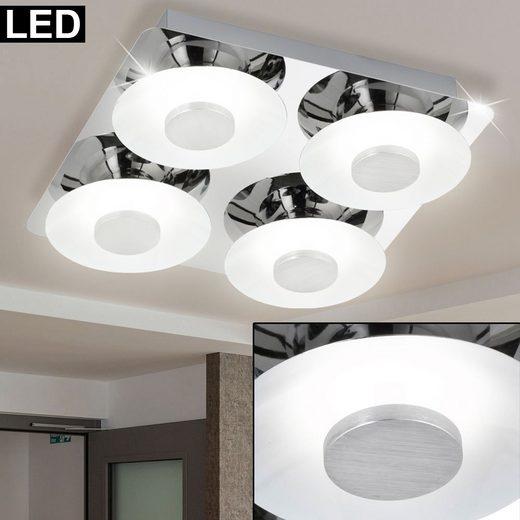 WOFI LED Deckenspot, LED Design Decken Lampe Chrom Strahler Leuchte Wohn Zimmer Beleuchtung weiß Wofi 9216.04.01.0000